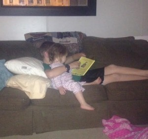 Everyone loves reading to Annie.
