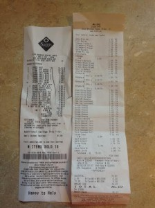 You should be able to zoom in on these receipts if you'd like a breakdown of what I got for $192.